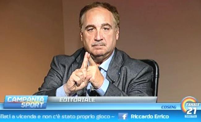 """Chiariello: """"Clamoroso autogol di De Laurentiis! E' stato deprimente quello che ha detto"""""""