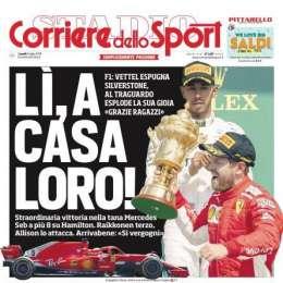 """PRIMA PAGINA – Corriere dello Sport: """"Sarri e Ronaldo, la svolta buona"""""""