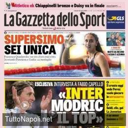 PRIMA PAGINA – Gazzetta: Modric vuole l'Inter, oggi incontra Perez