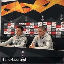"""Rapid Vienna, Schwab avvisa il Napoli: """"Salisburgo non ti fa respirare, ti attaccano per 90′! Dabbur segna sempre, Lainer lo conoscete…"""""""