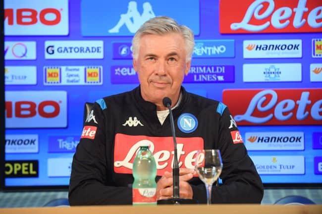 """Ancelotti: """"Vi spiego il caso spogliatoi. Anche il Napoli per lo scudetto. Insigne e Milik  hanno recuperato"""""""