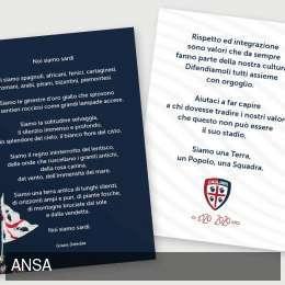 Cagliari, iniziativa contro il razzismo: distribuito volantino prima del match col Genoa