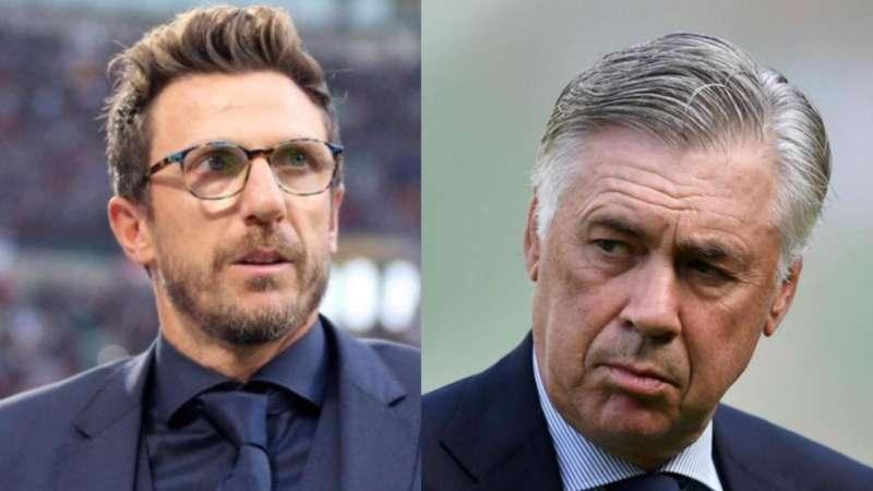 Grafico. Napoli-Sampdoria ecco come giocheranno Ancelotti e Di Francesco