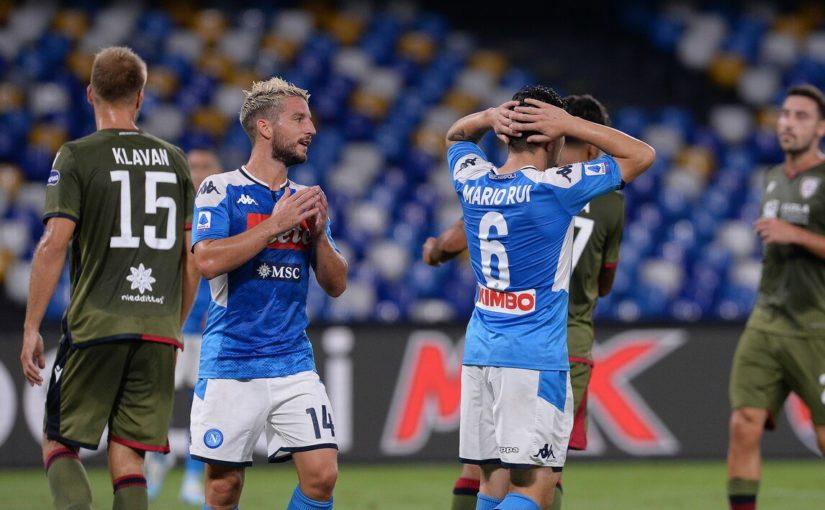 Napoli-Cagliari 0-1, il tabellino