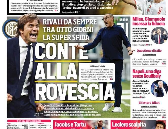 Prima pagina dei quotidiani: Corriere dello Sport, Gazzetta e Il Mattino