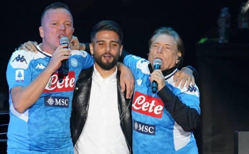 """Insigne canta con Gigi D'Alessio e Nino D'Angelo: """"La storia di Napoli"""""""