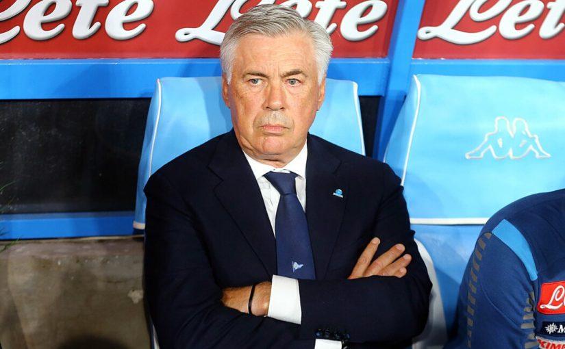 """Napoli, Ancelotti: """"Meno 6 dall'Inter? Non mi preoccupa la classifica"""""""