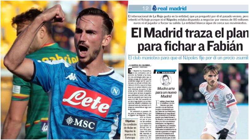 """""""Fabian Ruiz al Real Madrid: ecco la strategia"""". Napoli in ansia"""
