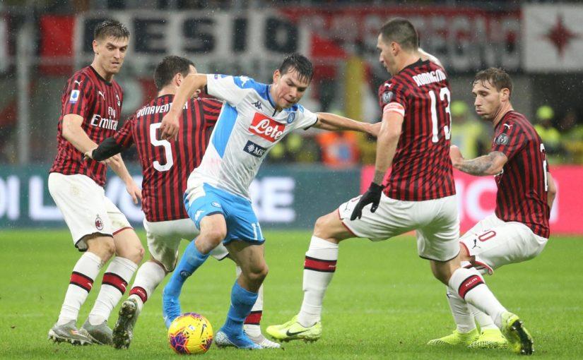 Milan-Napoli 1-1: Bonaventura acciuffa Lozano