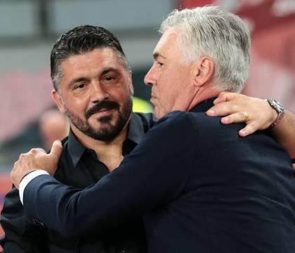 """Ancelotti: """"Sarebbe normale se Gattuso avesse sentito De Laurentiis"""""""