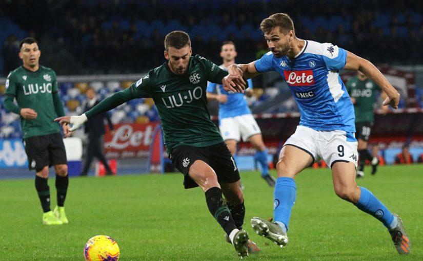 Napoli-Bologna 1-2, il tabellino