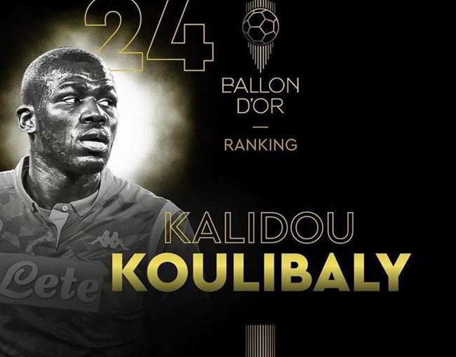 Pallone D'oro, koulibaly supera Joao Felix. 24 posto per il difensore del Napoli