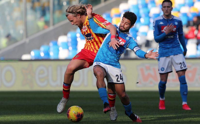 Napoli-Lecce 2-3, il tabellino