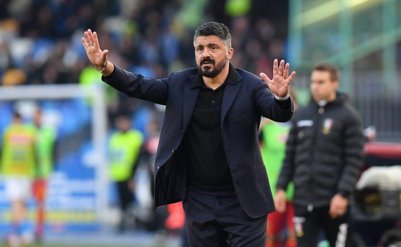 """Napoli, Gattuso: """"Una mazzata. Rigore su Milik? Non costa nulla andare al Var"""""""