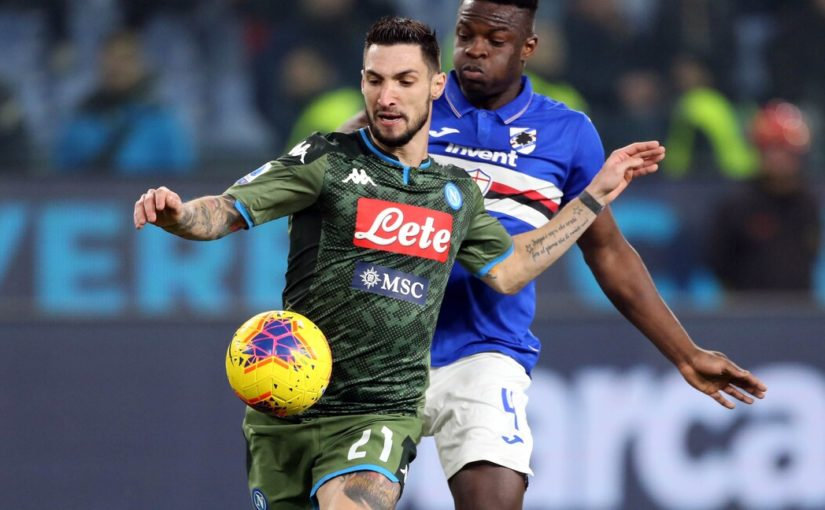 """Napoli, Politano: """"Davanti siamo forti. Obiettivi? Europa e Coppa Italia"""""""