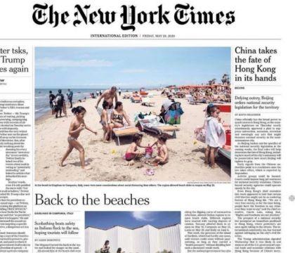 Il New York Times celebra Varcaturo spiaggia anti Covid
