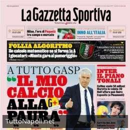 """PRIMA PAGINA – Gazzetta contro l'ultima ipotesi di Gravina: """"Follia algoritmo!"""""""
