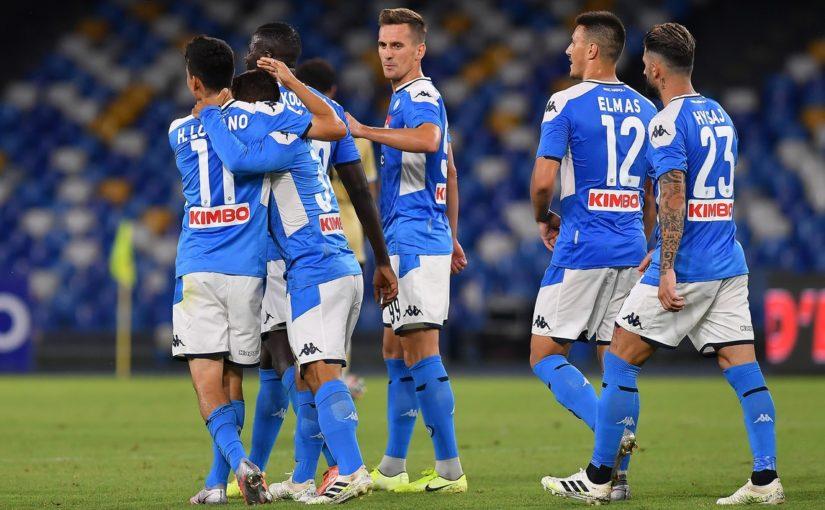 Napoli-Spal 3-1, il tabellino