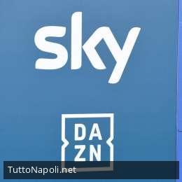 Sky o Dazn? Calendario del Napoli diviso quasi a metà