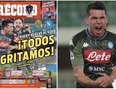 """Napoli, Messico pazzo di Lozano: """"El Chucky è tornato"""""""
