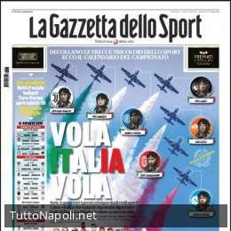 """PRIMA PAGINA – Gazzetta: """"Serie A quasi tutti i giorni col sogno degli stadi aperti"""""""