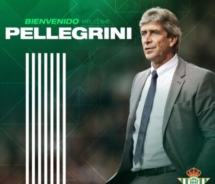 Manuel Pellegrini è il nuovo allenatore del Real Betis