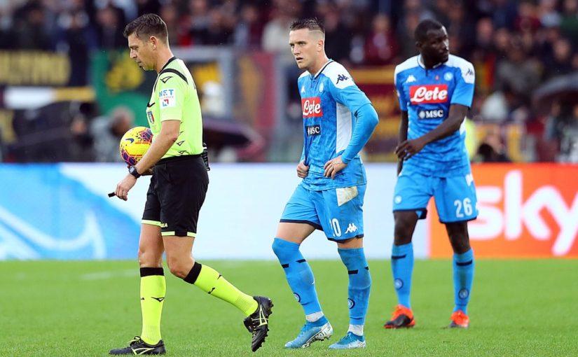 Napoli-Roma, cambia l'arbitro: Rocchi sostituisce il designato Di Bello