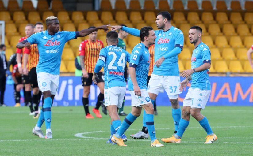 Benevento-Napoli 1-2: decide Petagna nello show dei fratelli Insigne