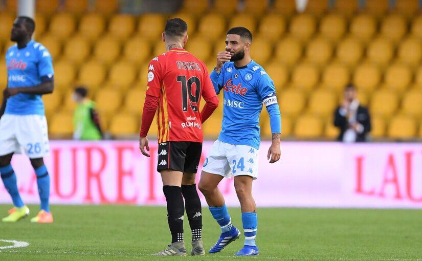 Benevento-Napoli 1-2, il tabellino