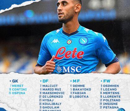Benevento-Napoli, i convocati di Gattuso
