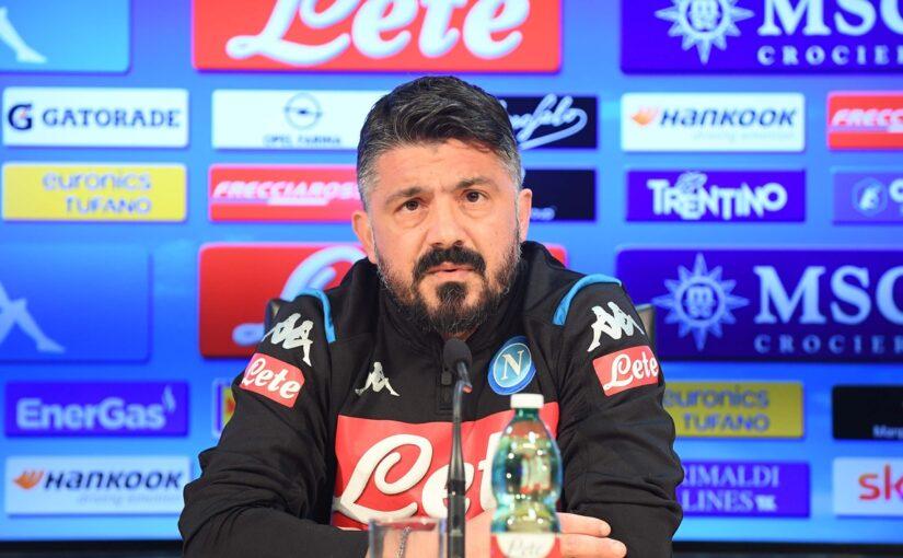 """Gattuso: """"Europa League obiettivo del Napoli. Insigne? Sta bene"""""""
