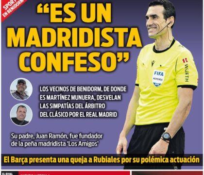 """Il Barça denuncia l'arbitro del Clasico alla federazione: """"Tifa per il Real"""""""