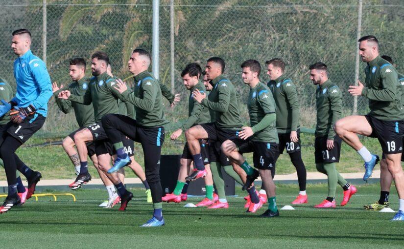 Napoli al lavoro per preparare la sfida con il Benevento