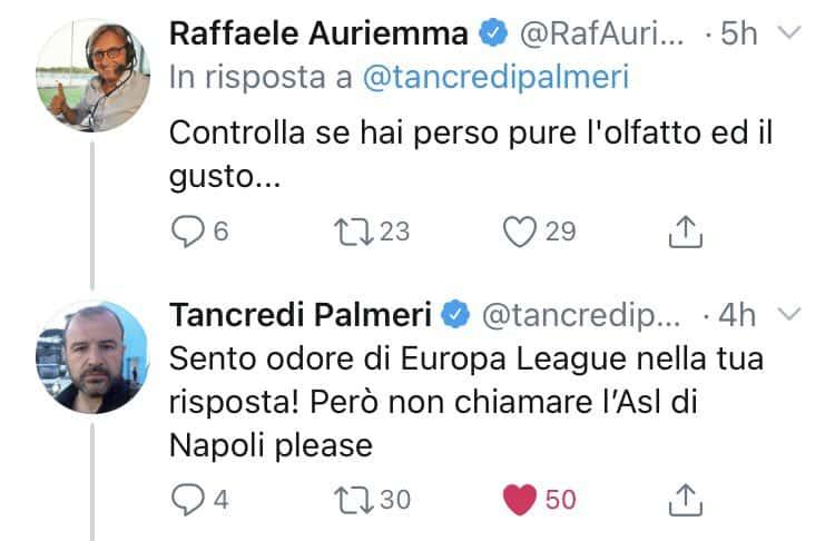 """Tancredi Palmeri pungola il Napoli: """"AZ? Bisogna vedere se la vostra ASL li fa sbarcare"""". Botta e risposta con Auriemma"""
