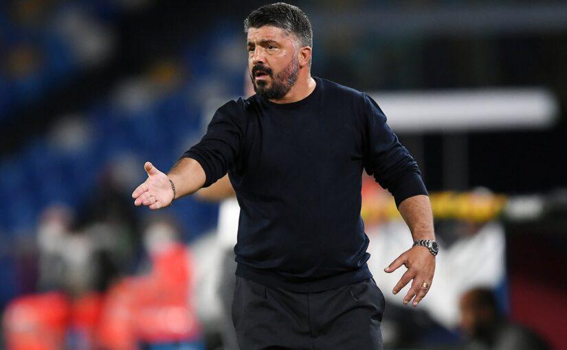 """Napoli, Gattuso: """"Abbiamo fatto il solletico, ora cammino complicato"""""""
