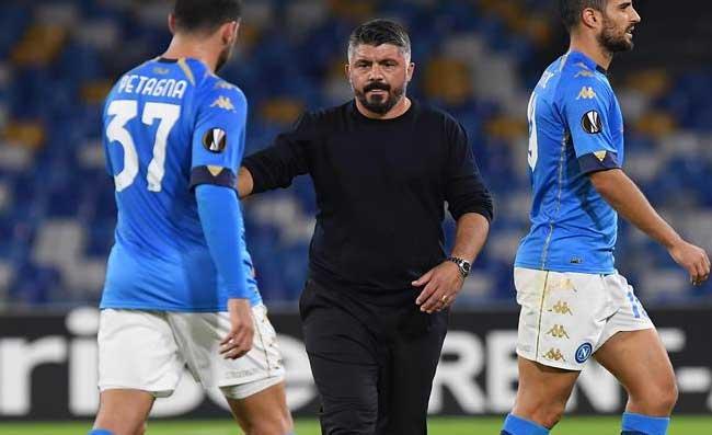 """Napoli, Gattuso entra negli spogliatoi e annuncia una """"bella"""" notizia alla squadra: """"Grazie mister"""""""