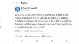 Napoli, via libera dall'Asl: finisce l'isolamento fiduciario