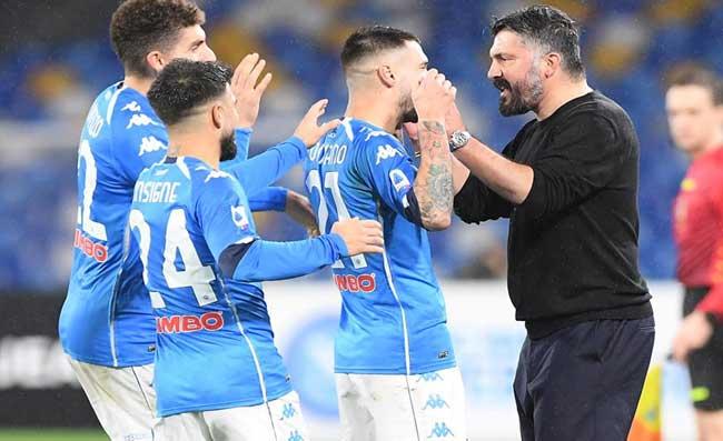 RAI – Napoli, novità tattica contro il Sassuolo. Gattuso ha fatto le sue scelte