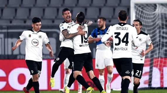 Serie A, impresa dello Spezia che ferma l'Inter: i finali della 32ª giornata