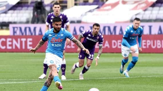 7 legni per Insigne in stagione e per il Napoli nelle ultime sette gare