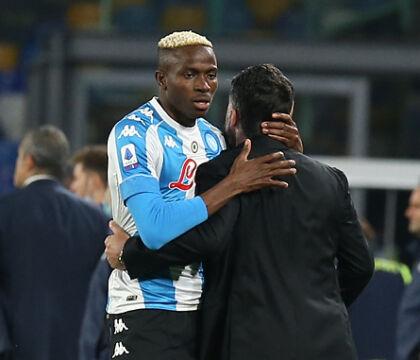 Cormez: Osimhen è tra i più delusi nel Napoli per l'addio di Gattuso a fine stagione