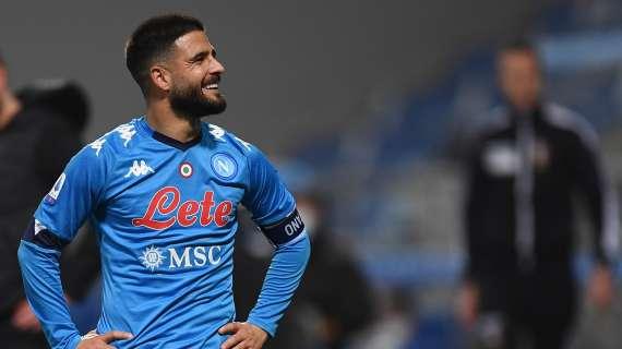 Dal dischetto Insigne sbaglia ma si corregge: 1-0 Napoli!