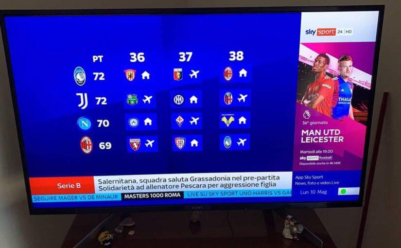 Foto – Per Sky la Juve è in Champions, la foto fa il giro del web