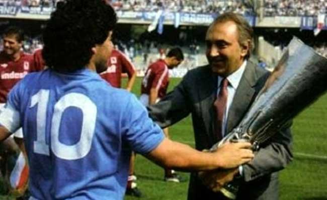 """Ferlaino: """"Napoli, divenni presidente a mia insaputa. Maradona uno di famiglia. Gattuso va confermato"""""""
