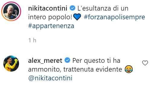 """Meret scherza con Contini: """"Trattenuta evidente, per questo ti ha ammonito"""""""