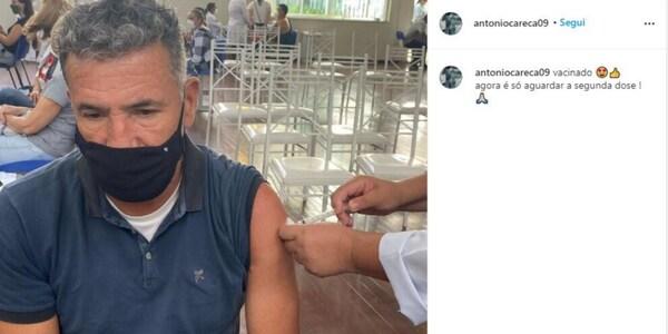 """Napoli, Careca si vaccina: """"Adesso aspetto la seconda dose"""""""