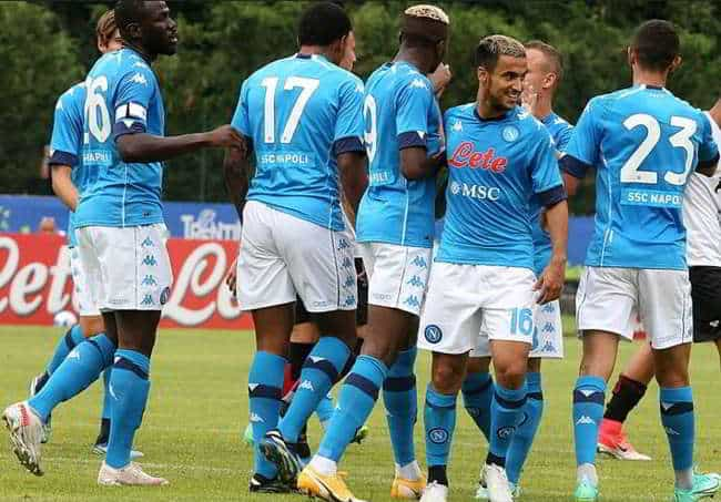 Napoli-Pro Vercelli 1-0: Osimhen in gol,  ansia per Demme infortunio al ginocchio, domani gli esami.