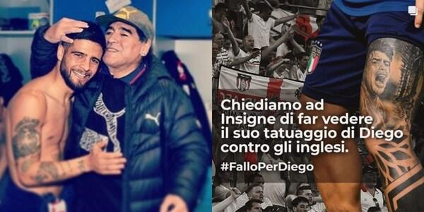 Insigne, il tatuaggio di Maradona e l'Inghilterra: la curiosa richiesta per la finale