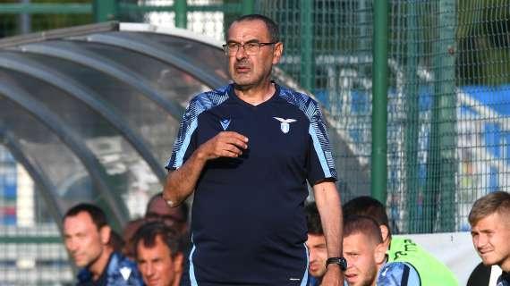 """Lazio, Sarri show contro Hysaj: """"Se alzi la palla ti do rigore contro"""""""