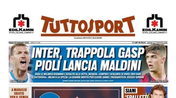 """PRIMA PAGINA – Tuttosport – Siani: """"Spalletti è Napoli magia"""""""